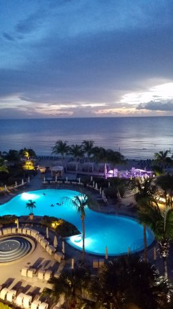 The Ritz-Carlton, Grand Cayman: Sunset view from room #629
