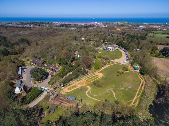 Sheringham, UK: Hilltop from above with Beautiful sea views!