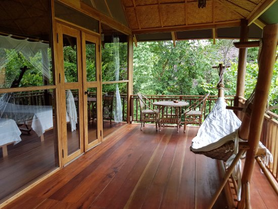 Ban Khiet Ngong, Laos: Spacious veranda
