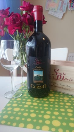 San Quirico d'Orcia, Italia: Curzio - Best vine ever ! Sante Marie di Vignoni is the place you have to visit !