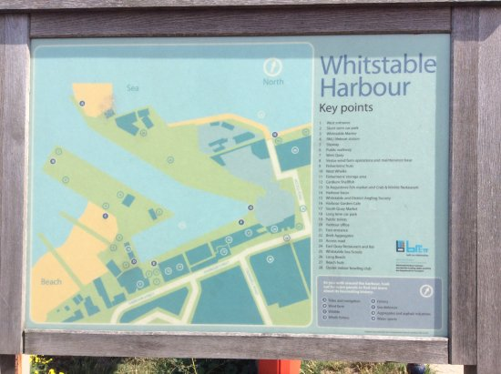 Harbour map Picture of Whitstable Town Centre Whitstable