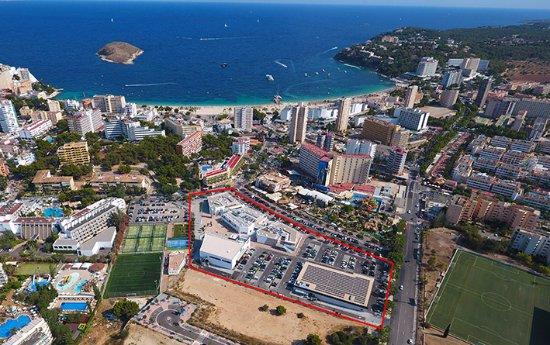 Calvià, España: Foto aérea del centro comercial