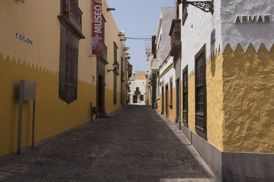 City Sightseeing Las Palmas de Gran Canaria: foto tomada mientras la guia nos explicaba la red de calles y la explicación del museo de Colón