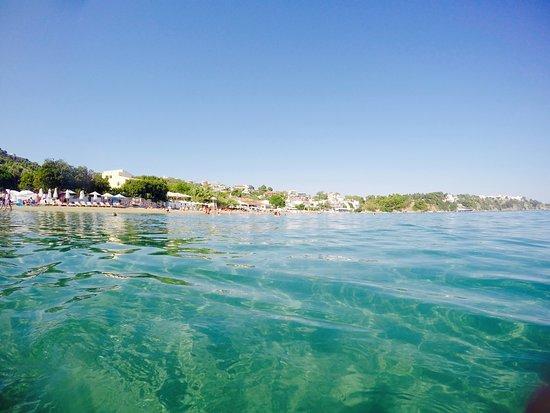 Megali Ammos Beach: Blick vom traumhaften Wasser