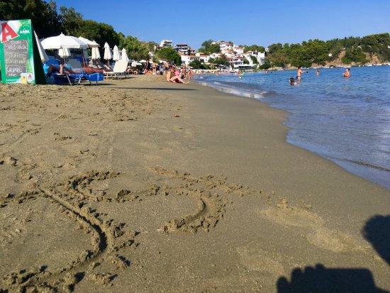 Megali Ammos Beach: Rechter Strandabschnitt