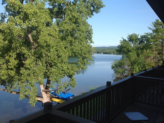 Lee, MA: Looking from the balcony down the lake