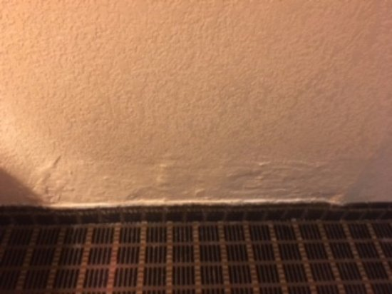 Big Rapids, MI: flexible wall covered with drywall putty, other side of wall is shower