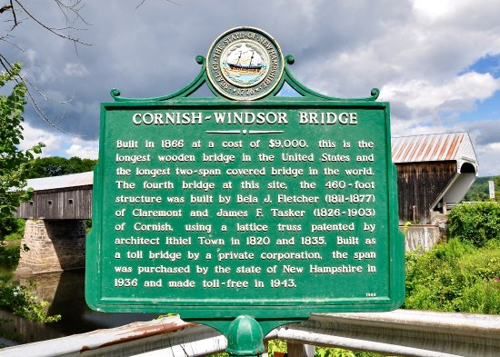 Cornish-Windsor Bridge - Signpost Full Of Interesting Facts