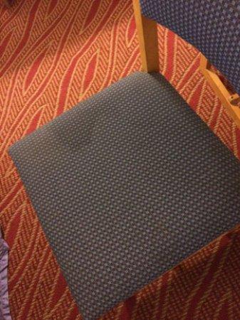 Howard Johnson Express Inn Staunton: stained upholstery
