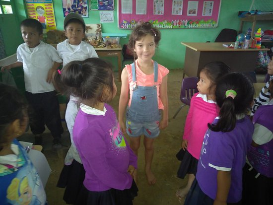 Casa Cayuco: classroom at Salt Creek.Chloe donated her outgrown clothes, the kids were more than gratefull