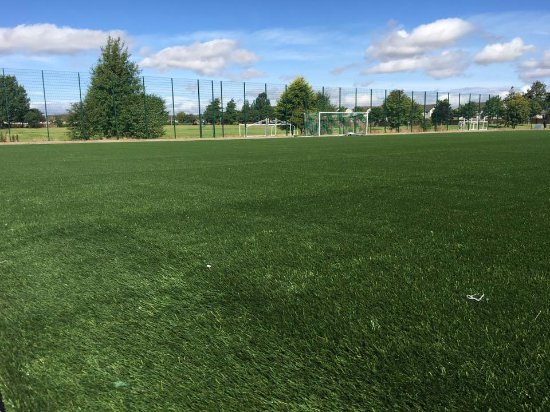 Inverurie, UK: Newly laid 3G pitch, August 2017