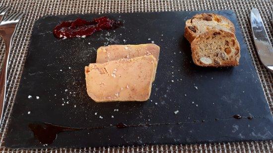 Le Restaurant Panoramique : foie gras fruit rouges