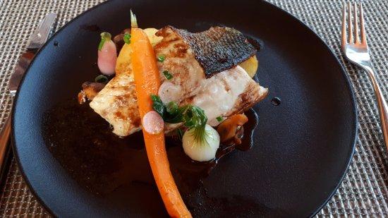 Le Restaurant Panoramique : bar amandes et coques... sans coques et avec un petit crabe!!!