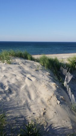 East Sandwich, MA: Sand dunes at Sandy Neck Beach and State Park