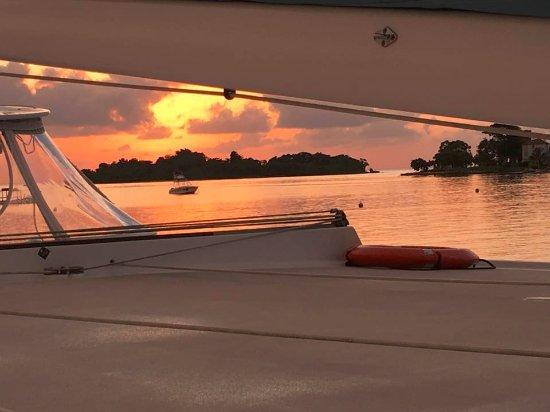 ساندالز نيجريل بيتش ريزورت آند سبا: Sunset from the Catamaran cruise