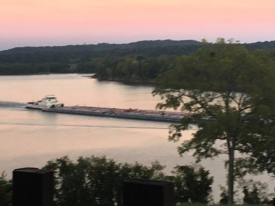 Cave in Rock, IL: sunset barge