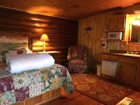 Swan Lake, MT : Guest room with kitchenette.