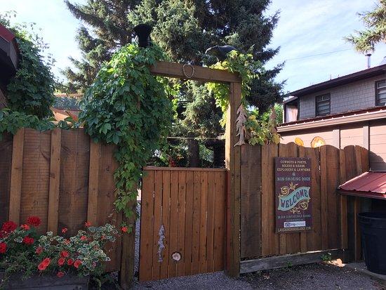 Swan Lake, MT: Back gate.