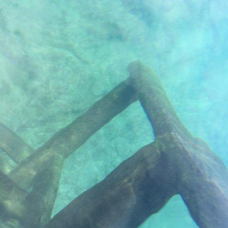 Puerto Villamil, Ecuador: escalera bajo el agua, transparencia total