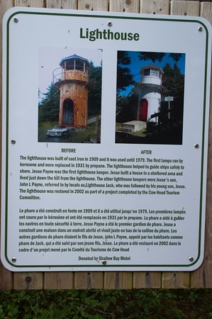 Cow Head Lighthouse: Information about the lighthouse.