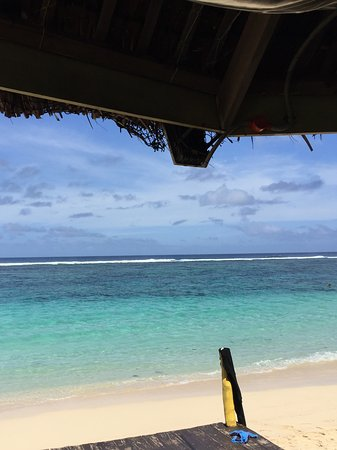 Lalomanu Beach: Lunchtime view