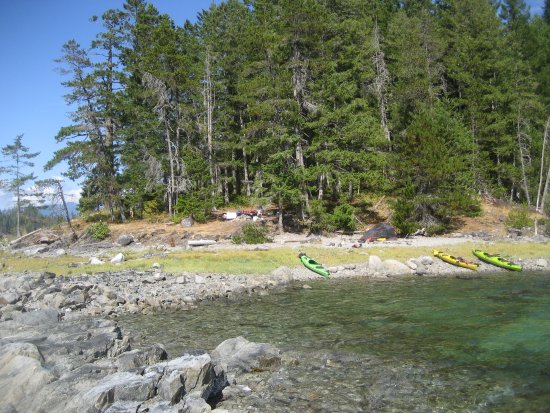 Heriot Bay, Canada: Freedom camp, Read Island