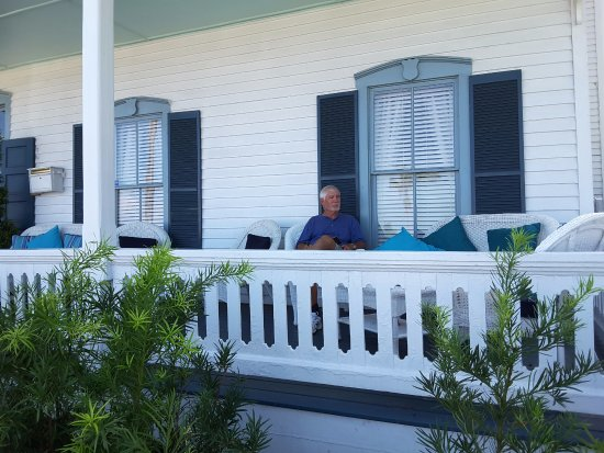 Bayfront Westcott House Bed & Breakfast: Front porch. Nice breeze and great people watching.