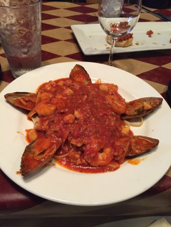 Seafood and with red sauce