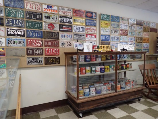 Saluda County Museum: A Wall Of License Plates From South Carolina.