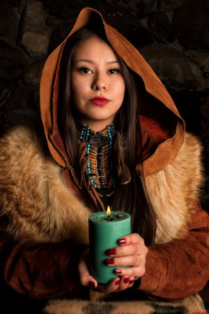 Ottawa, Canada: Kammy Alexson (model) with our sweetgrass candle