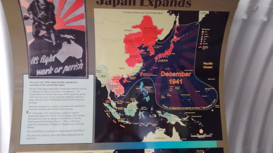 Charles Darwin National Park : Posters with details of the Japanese advancement.