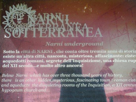 Narni, Italia: Locandina all'entrata.