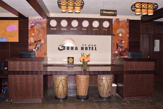 Goha Front office desk.