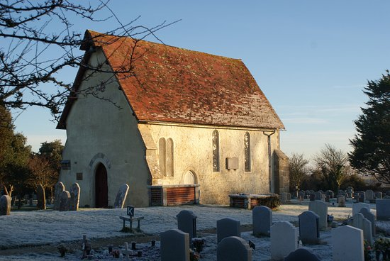 Selsey, UK: St Wilfreds Chapel on a December morning