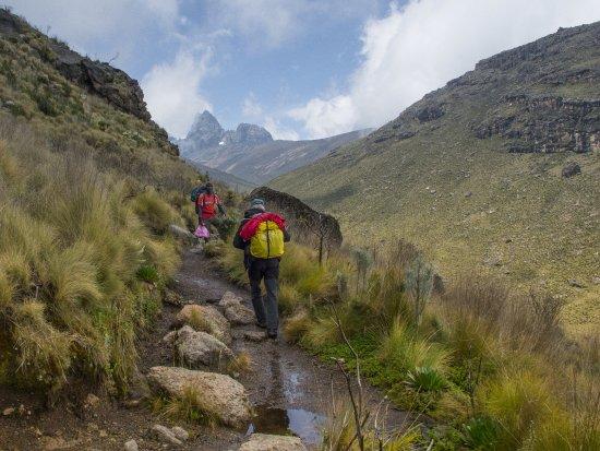Naro Moru, เคนยา: Approaching Mount Kenya
