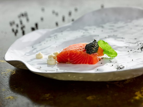 Park House Restaurant: Citrus Cured Sea Trout & Exmoor Caviar