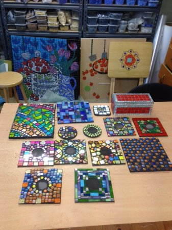 Otley, UK: Some mosaics in my studio