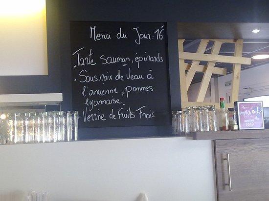 La Ravoire, France: menu du jour