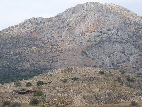 Citadel and Treasury of Atreus : View of Mycenae from Treasury of Atreus