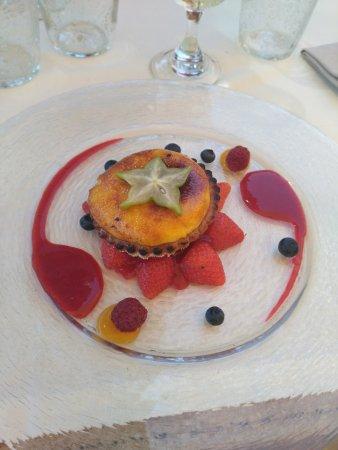 Sablée de crème brûlée aux fraises de Saint Léon