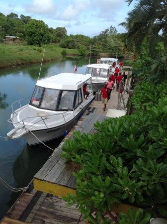 Subway Watersports: Dive boats at Turquoise Bay