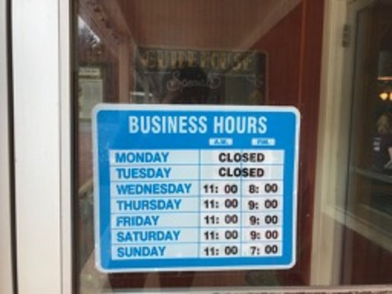 Guide House: Business hours to not be disappointed