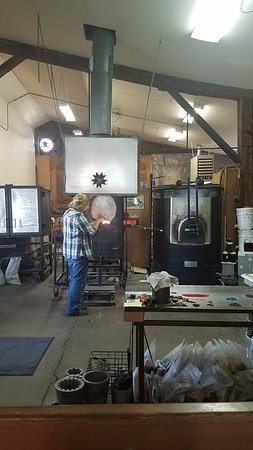 Townsend, MT: Working with hot glass