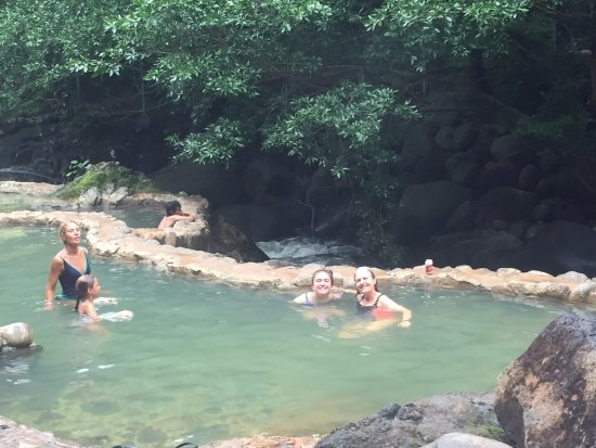 Playa Negra, Costa Rica: Thermal springs - in the pool