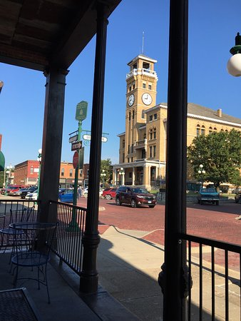 Harrisonville, MO: View from Brickhouse towards the old courthouse.