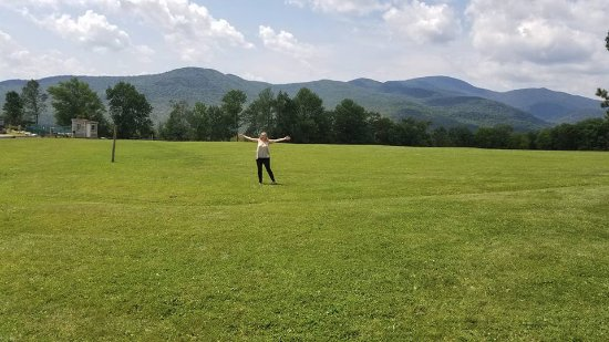 Trapp Family Lodge Outdoor Center: Couldn't help myself had to sing and twirl while singing The Hills Are Alive!