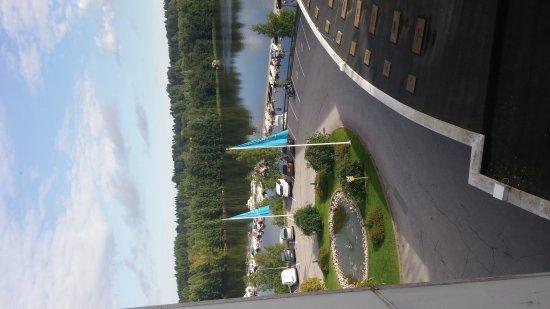 Nokia, Finlande : Vista da dentro l`hotel