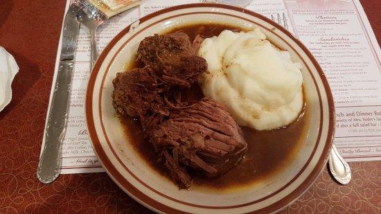 Mrs. Yoder's Kitchen: le boeuf et la purée