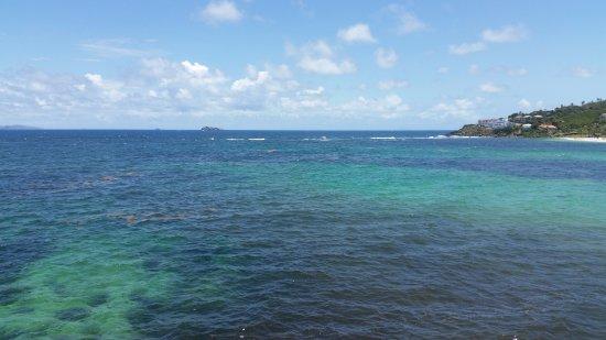 Oyster Pond, St. Maarten: View of Dawn Beach from Oyster Bay Beach Resort