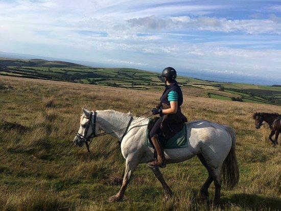 Riding over Exmoor